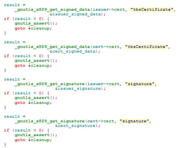 GnuTLS certificate verification bug