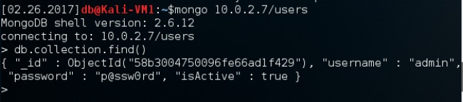 Accessing MongoDB users database directly with Mongo Shell