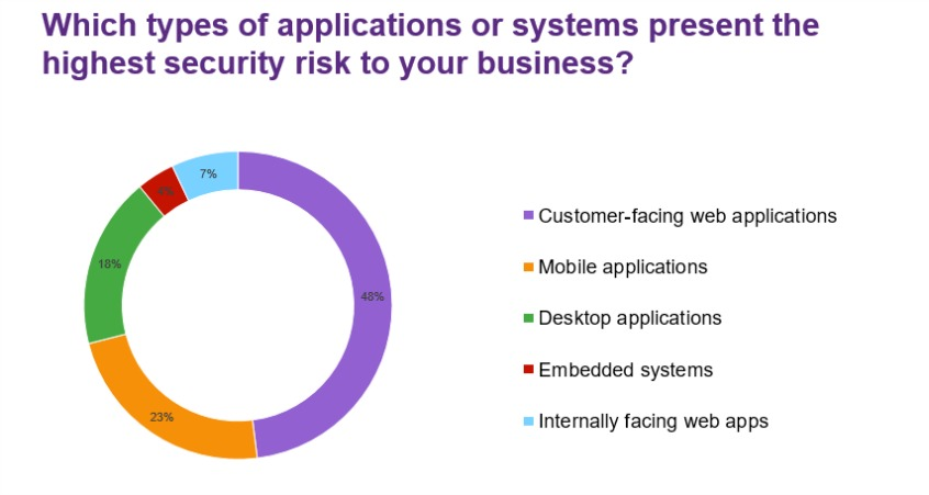 Which types of applications or systems present the highest security risk to your business?