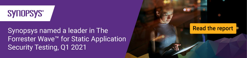 Download Forrester Wave for Static Application Securing Testing 2021 | Synopsys