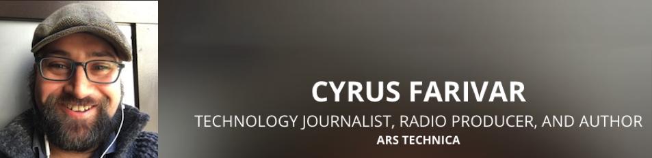 Cyrus Farivar at codenomi-con USA 2018