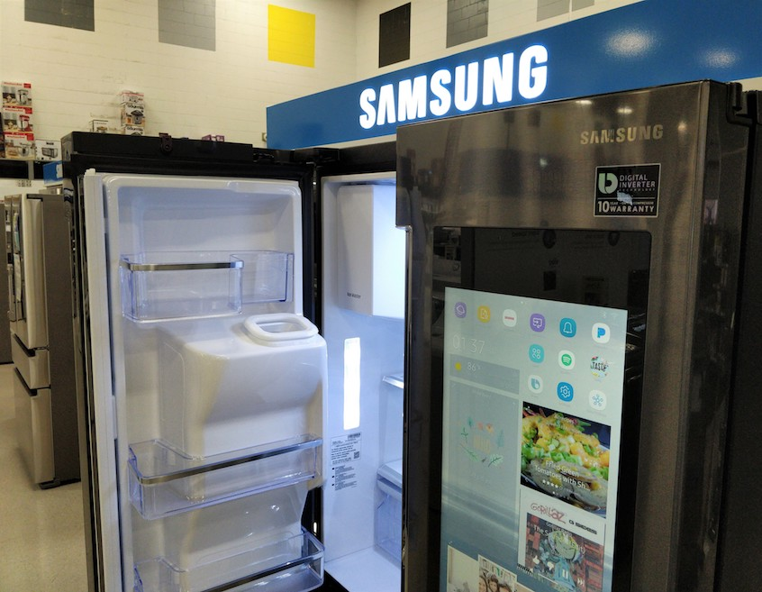 a Samsung Smart Fridge
