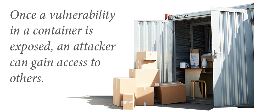 Moving boxes outside an open, insecure container with exposed contents