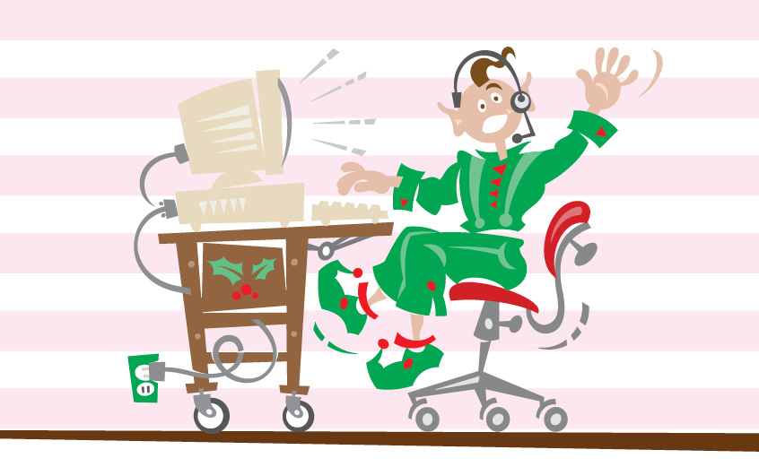 Elf Glitterpants wanted an email discount code, but he got malware instead.