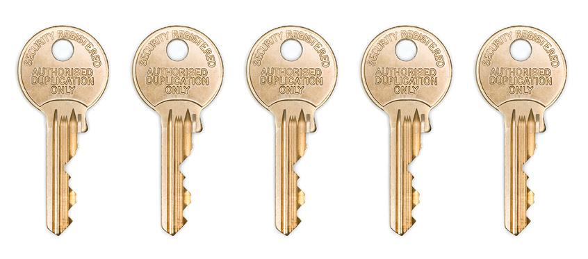 5 identical keys
