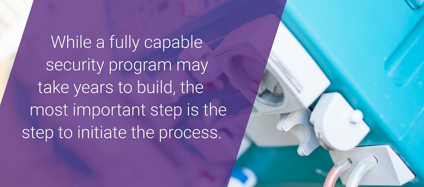 While a fully capable security program may take years to build, the most important step is the step to initiate the process.