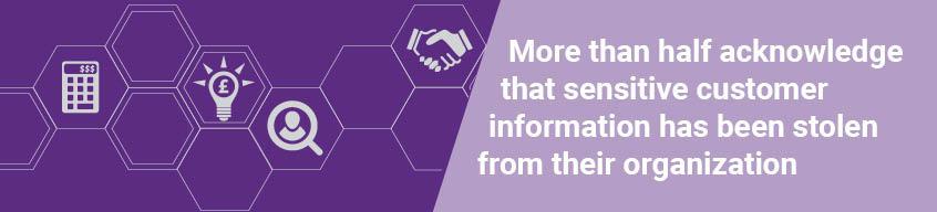 半数以上が、過去に機密性の高い顧客情報が盗まれたことがあると認めています。