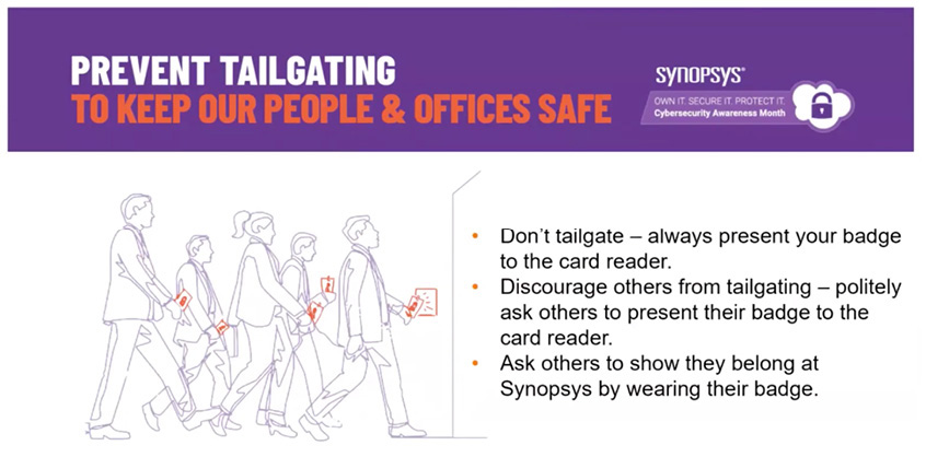 Prevent tailgating to keep our people and offices safe