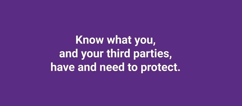 Know what you, and your third parties, have and need to protect.