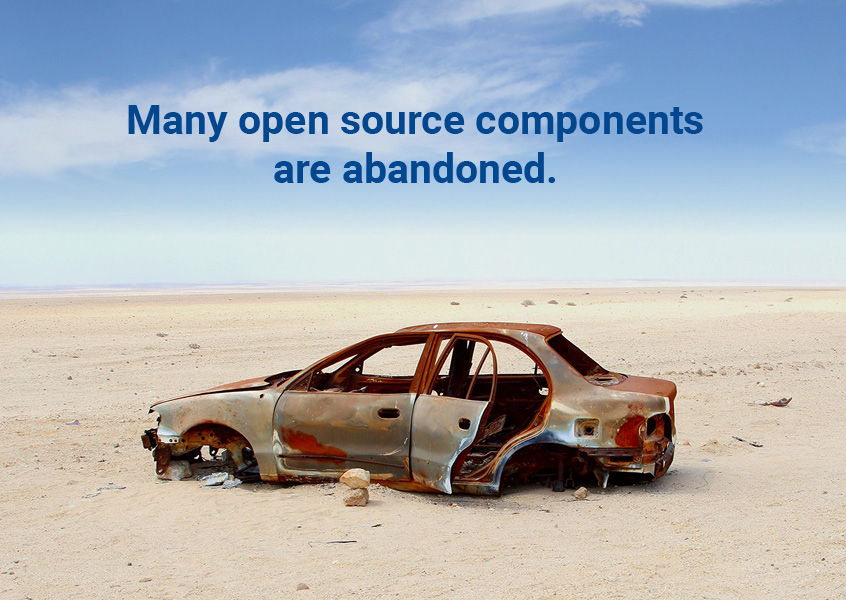 Many open source components are abandoned.