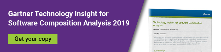 Download the Gartner Technology Insight for Software Composition Analysis 2019
