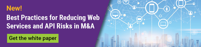 Get the white paper on web services and APIs in M&A due diligence