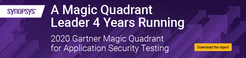 Get the 2020 Gartner Magic Quadrant for Application Security Testing