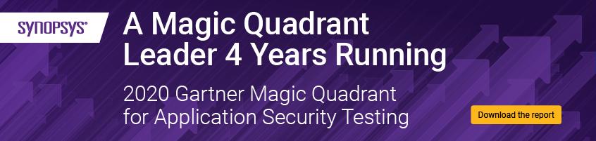 Get the 2020 Gartner Magic Quadrant for Application Security Testing