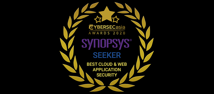 Synopsys' Seeker IAST wins Best Cloud and Web Application Security category at CybersecAsia Awards