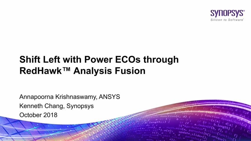Sign-off Driven Physical Design Flow with RedHawk Analysis Fusion
