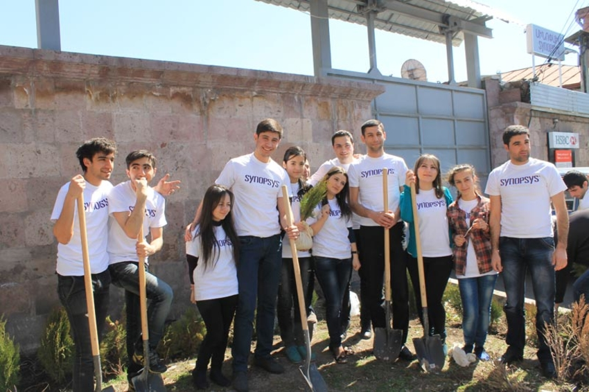 Synopsys Armenia Students Plant Another 50 Trees