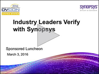 DVCon 2016 Verification Lunch Panel Video