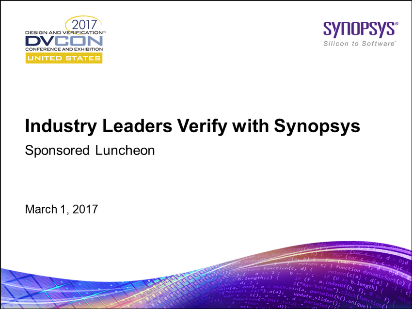 DVCon 2017 Verification Lunch Panel Event