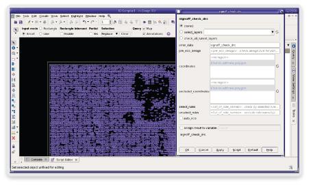 図2: IC Compiler IIのGUIがIC ValidatorによるサインオフDRCコマンドを表示