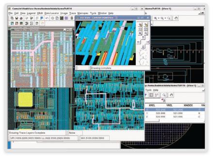 図1: レイアウト、スケマティック、ファブ欠陥データを統合するCamelot CADナビゲーション・システム