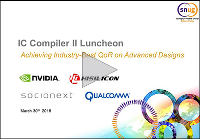 IC Compiler II Lunch and Learn