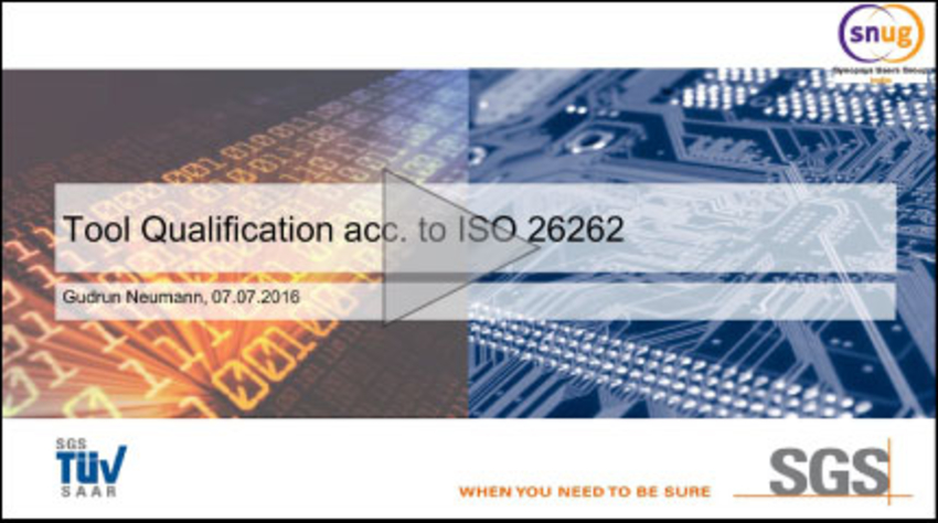 TetraMAX II ISO 26262 Qualification