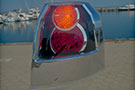 Round reflectors taillight lit