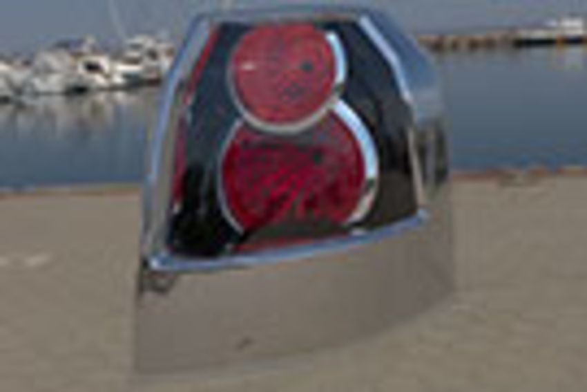 Round reflectors taillight unlit