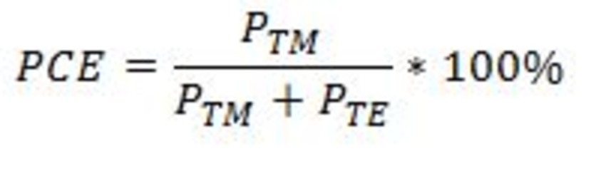 polarization conversion efficiency formula