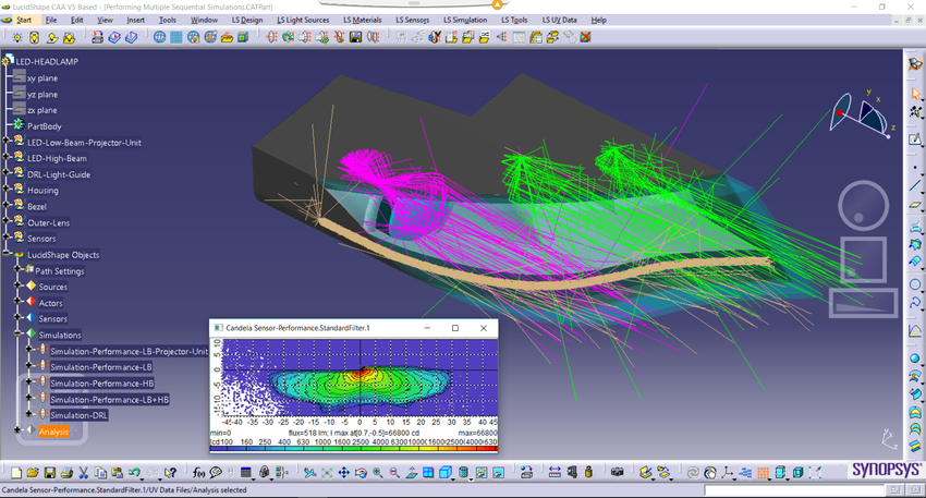 Automotive lighting design software lucidshape lucidshape caa