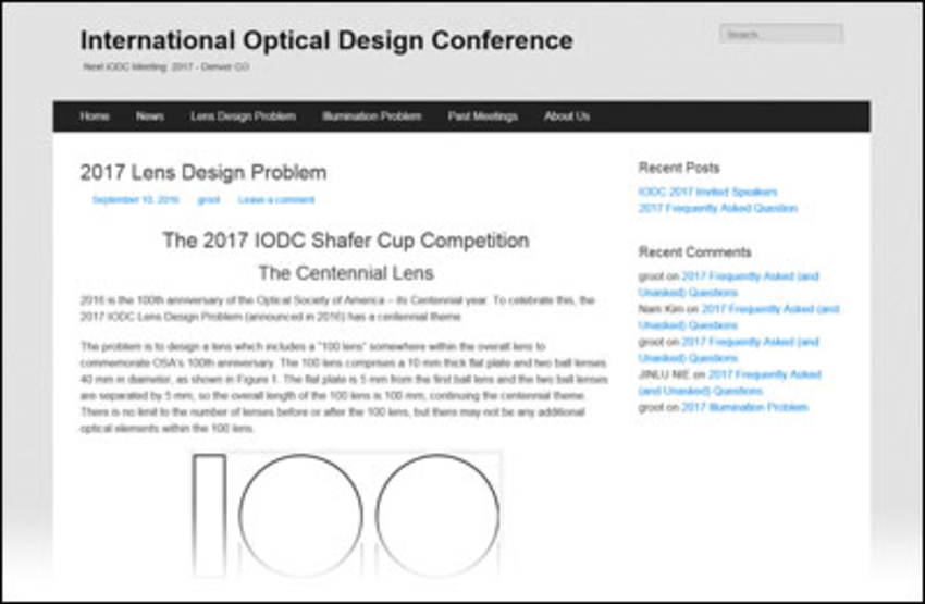International Optical Design Conference