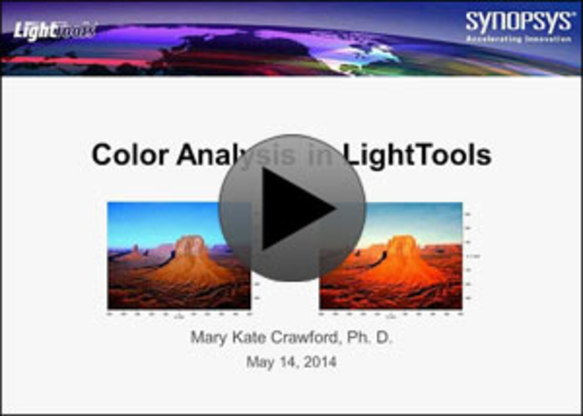 Color Analysis in LightTools