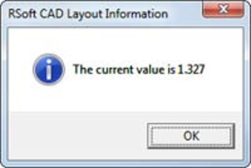 RSoft CAD Layout Information