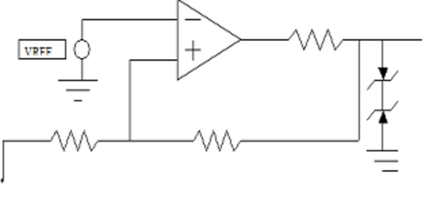 implementation of the comparator using back-to-back zener diodes