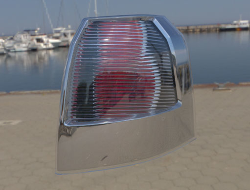 Round reflectors taillight with deco optics unlit