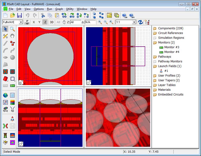 RSoft CAD Environment - RSoft Component Design Suite