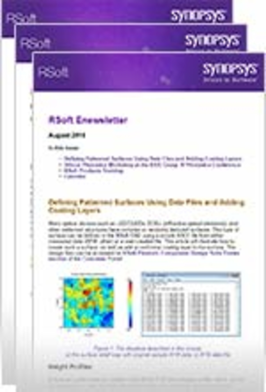 Past RSoft Newsletters