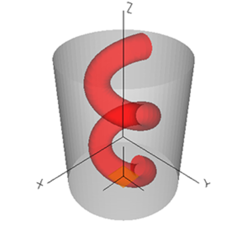 Schematic diagram of a helical fiber.