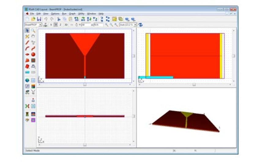 Index Guided Tapered Laser Diode layout in RSoft CAD