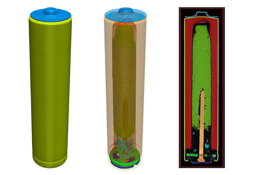 Segmentation of micro-CT AAA battery data in Simpleware software